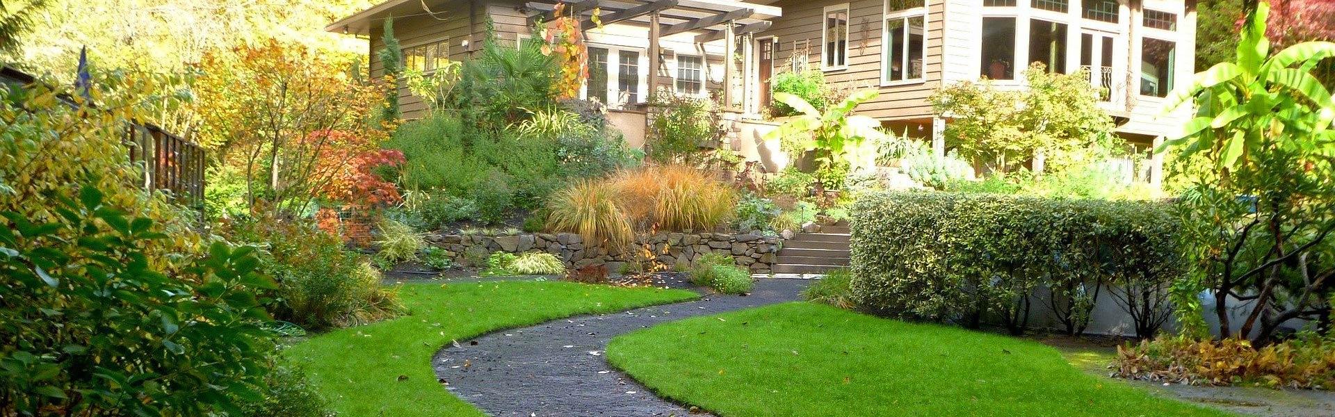 Schöner gepflegter Garten