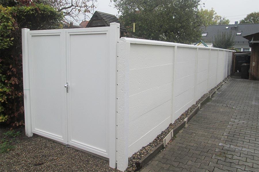 Sichtschutz aus Beton von Kutter Zaunbau