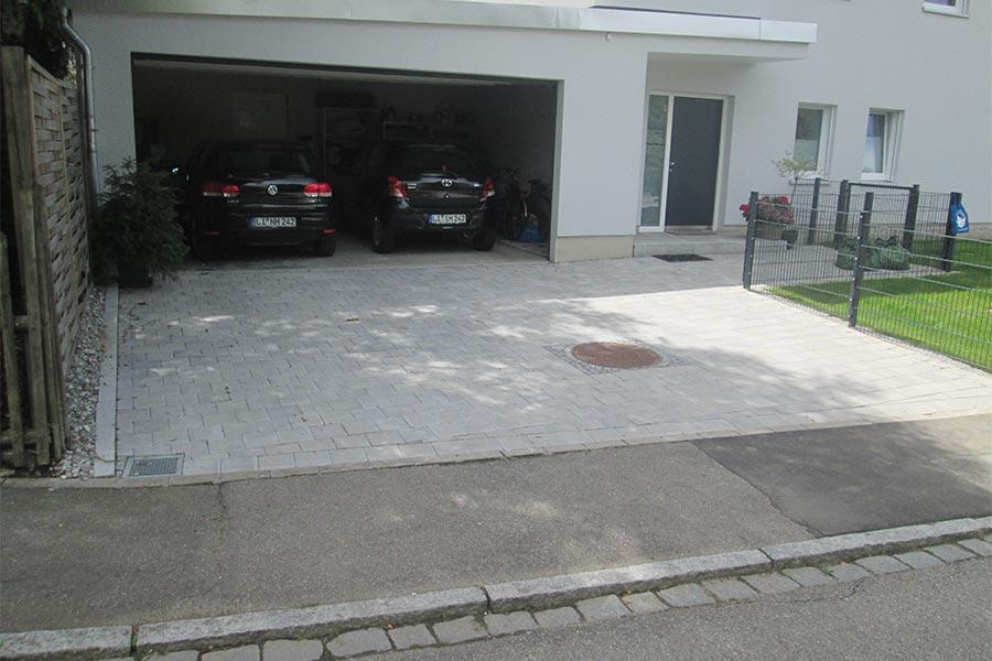 Garageneinfahrt pflastern mit Kutter in Memmingen