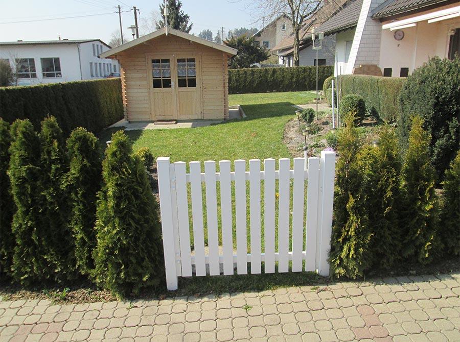 Kleiner Weißer Zaun für den Garten von Kutter in Memmingen