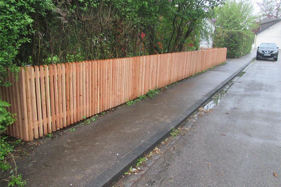 Holz-Zaun für den Garten von Kutter Zaunbau