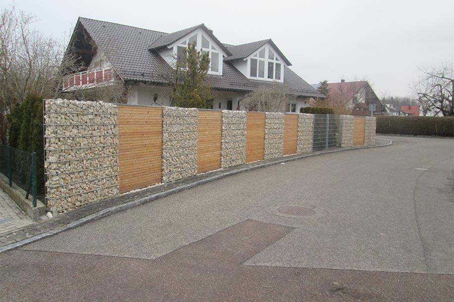 Gabionen und Holz-Sichtschutz von Kutter aus Memmingen