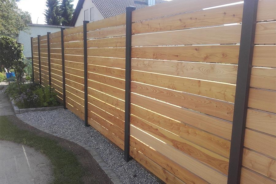 Holz-Sichtschutz von Kutter Gartengestaltung und Zaunbau